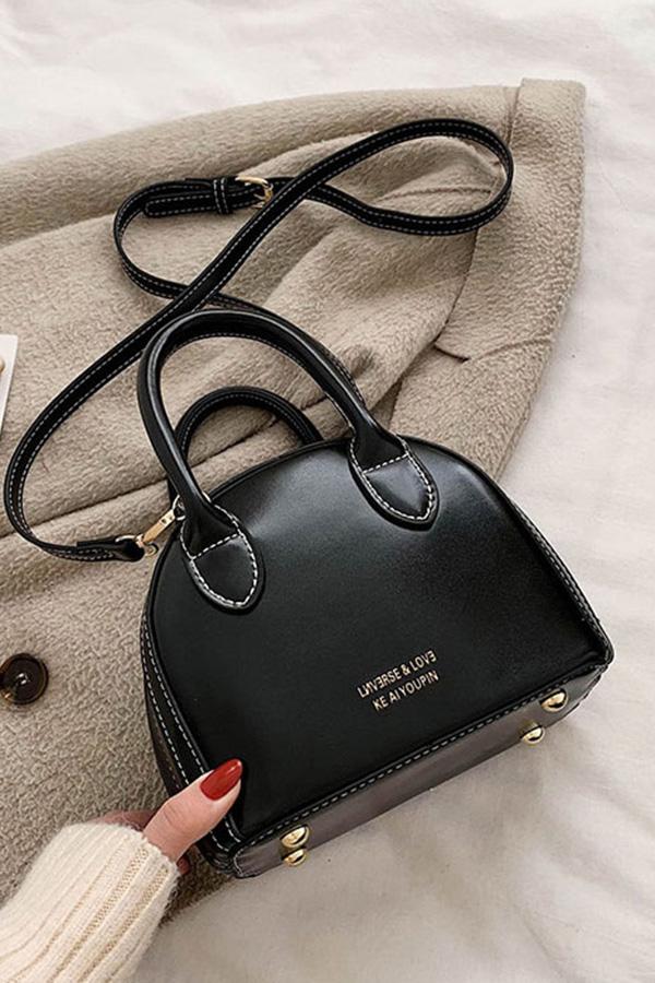 코우지 아메카지 스티치 핸드 반달 크로스백 (블랙,와인,커피브라운)S200109D017