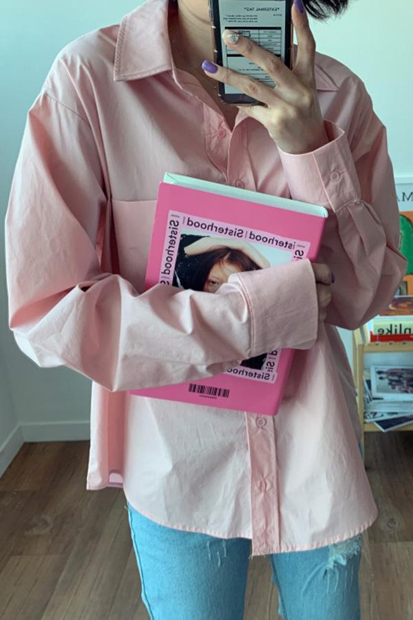 [빠른배송] 데일리템으론 딱이야 허리 스트링포함 바스락 여성 모던셔츠 (핑크)F200409P014