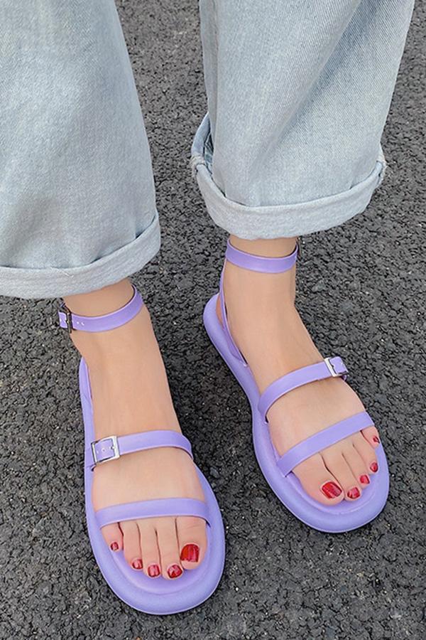 [불량/퍼플35(225)] 파스텔링 쓰리라인슬링 데일리 여성여름 스트랩샌들 [즉시발송]S200508P011SHOES▶S_신발3