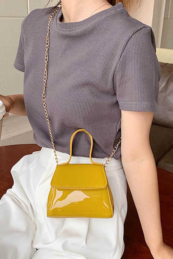 리오에나멜반짝반짝 체인슬링 여성 데일리 크로스백 (블랙,아이보리화이트,레드,옐로우)S200519P013BAG