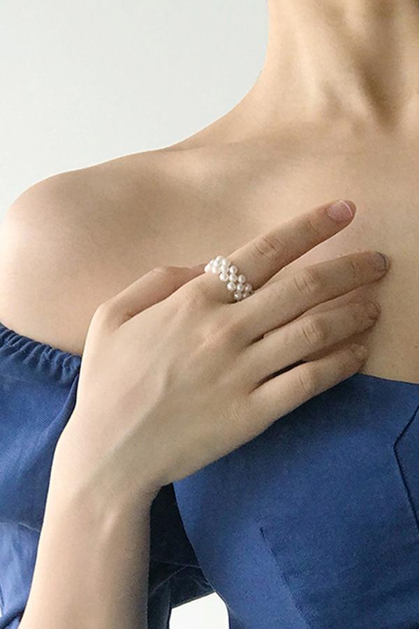 [당일배송] 데일리매칭 진주알 짜임 포인트 반지S200529S002ACC