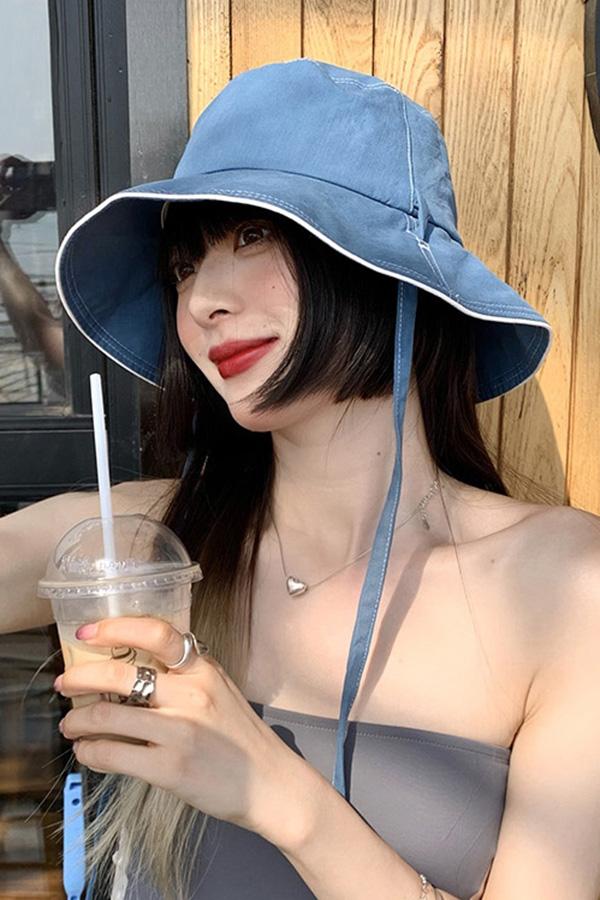 레이니 데일리 기본심플 오버핏 버킷햇 사파리모자 (커피브라운,블루,아이보리,핑크)S210618E016ACC