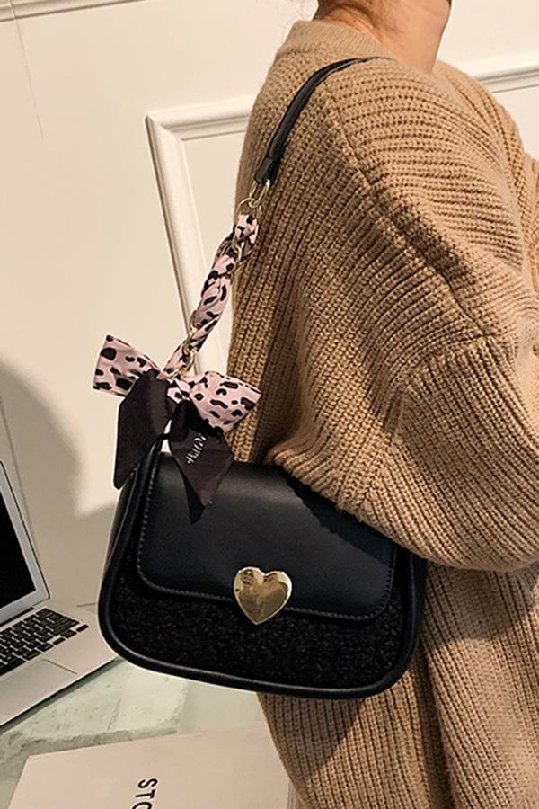 아이니 러블리 소녀룩 보송털 하트 커버 미니 스퀘어 숄더 크로스백 5colorsS211013J001BAG